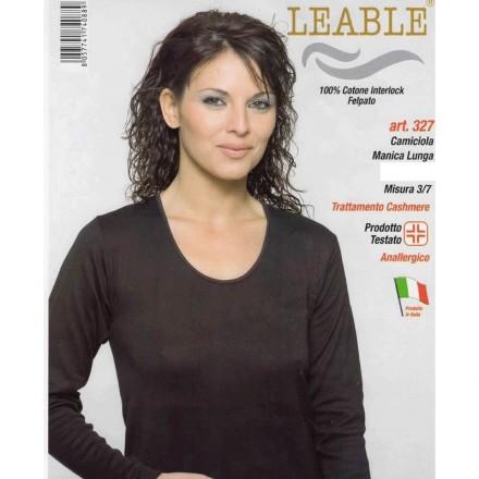 LEABLE 3 MAGLIA DONNA TAGLIE FORTI COTONE INTERLOCK MANICA LUNGA 327