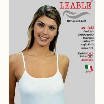 LEABLE 6 TOP DONNA TAGLIE FORTI COTONE SPALLINA STRETTA 1403