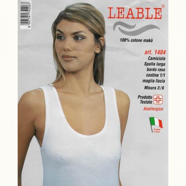 LEABLE 6 CANOTTA DONNA TAGLIE FORTI COTONE SPALLA LARGA 1404