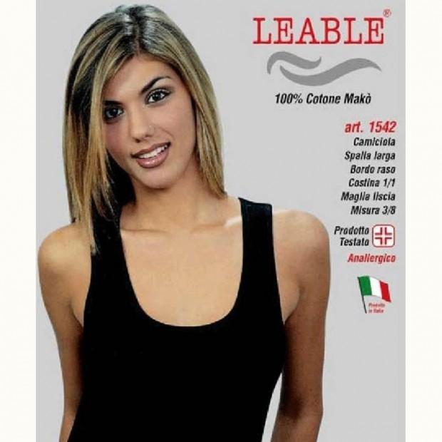 LEABLE 6 TOP DONNA TAGLIE FORTI COTONE SPALLA LARGA 1542