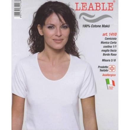 LEABLE 6 MAGLIA DONNA TAGLIE FORTI COTONE MANICA CORTA 1410