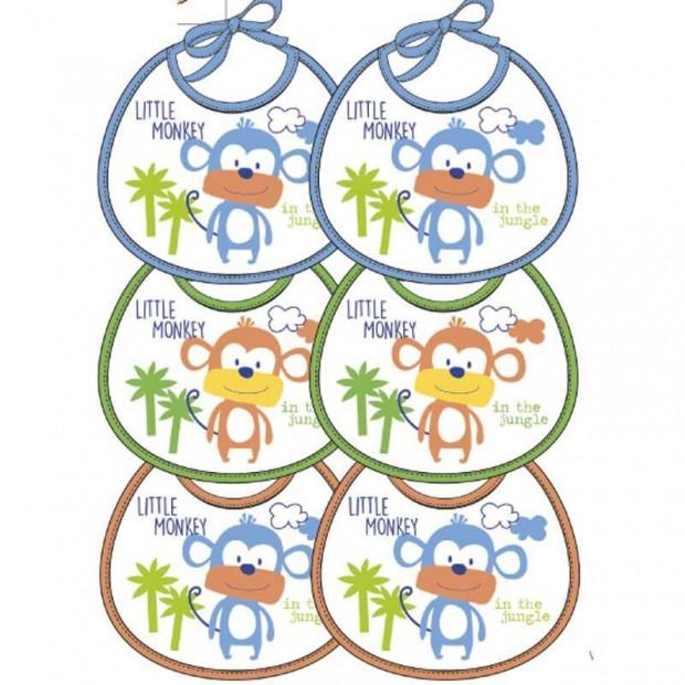 ELLEPI 6 BAVETTE BABY PLASTIFICATE 9558