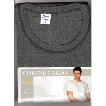 AREA INTIMO T-SHIRT UOMO COTONE INTERLOCK 808