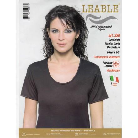 LEABLE 3 CANOTTA DONNA COTONE INTERLOCK MEZZA MANICA 326