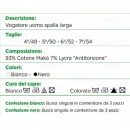 CIELLEGI CANOTTA UONO SPALLA LARGA 802