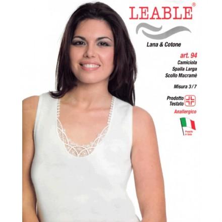 LEABLE CANOTTA DONNA SPALLA LARGA 94