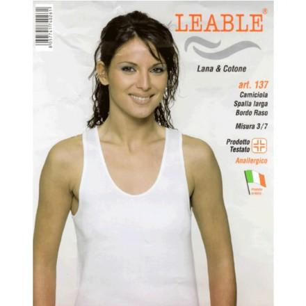 LEABLE 3 TOP DONNA LANA E COTONE SPALLA LARGA 137