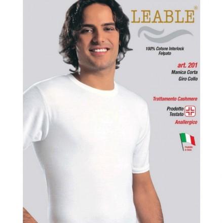 LEABLE 3 T-SHIRT UOMO TAGLIE FORTI COTONE INTERLOCK MEZZA MANICA 201