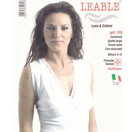 LEABLE 3 CANOTTIERA DONNA TAGLIE FORTI LANA E COTONE 119