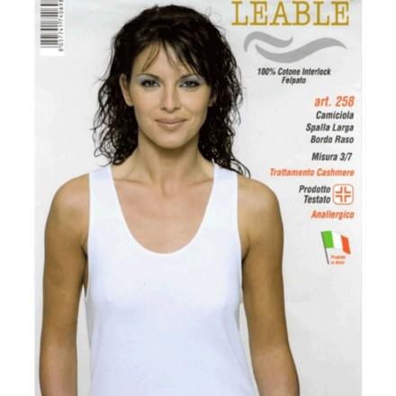LEABLE 3 CANOTTIERA DONNA TAGLIE FORTI INTERLOCK SPALLA LARGA 258
