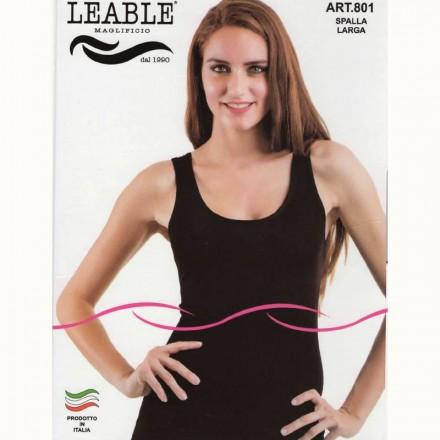 LEABLE TOP DONNA SPALLA LARGA COTONE ELASTICIZZATO 801