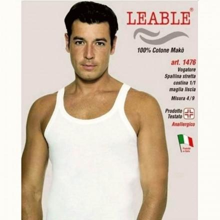 LEABLE 6 CANOTTIERE UOMO TAGLIE FORTI COTONE SPALLA STRETTA 1476