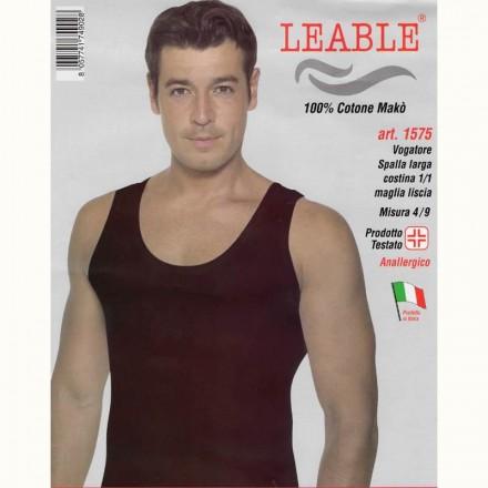 LEABLE 6 CANOTTIERE UOMO COTONE SPALLA LARGA 1575