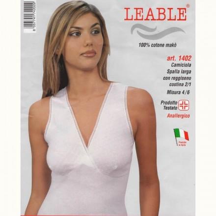 LEABLE 6 CANOTTA DONNA COTONE SPALLA LARGA 1402