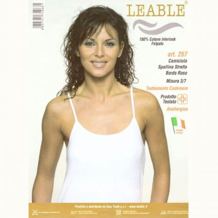LEABLE 3 TOP DONNA COTONE INTERLOCK SPALLA STRETTA 257
