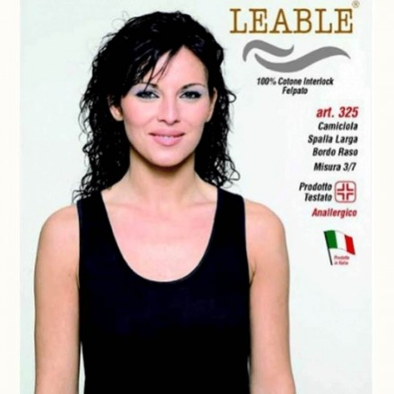 LEABLE 3 CANOTTA DONNA COTONE INTERLOCK SPALLA LARGA 325
