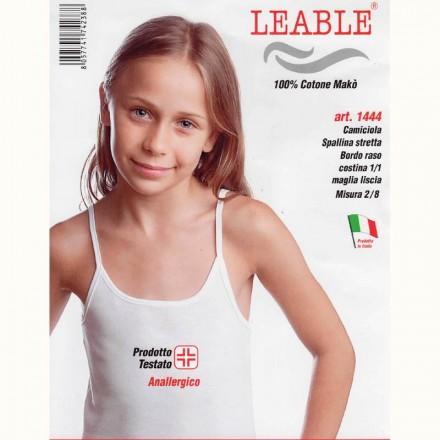 LEABLE 6 CANOTTIERA BIMBA COTONE SPALLA STRETTA 1444