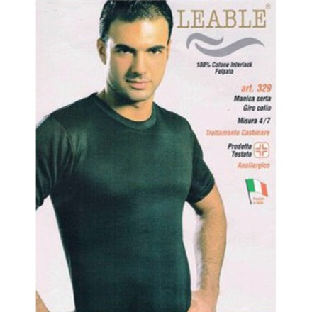 LEABLE 3 T-SHIRT UOMO CALDOCOTONE INTERLOCK 329