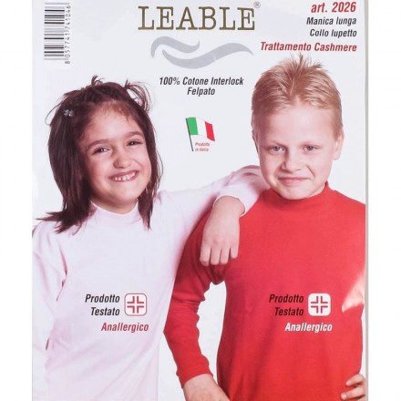 LEABLE LUPETTO BIMBI INTERLOCK 2026