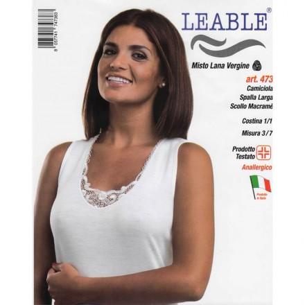LEABLE 3 CANOTTA DONNA MISTO LANA SPALLA LARGA 473
