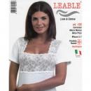 LEABLE 3 CANOTTA DONNA LANA E COTONE MANICA CORTA 155