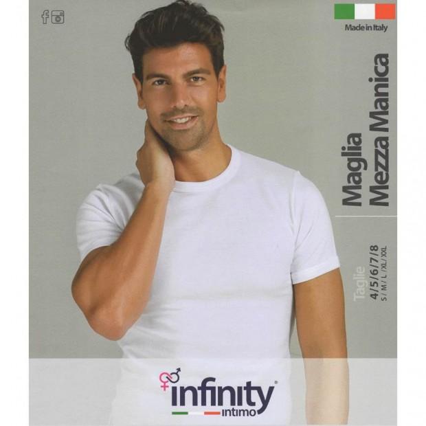 INFINITY 4 MAGLIA UOMO LANA E COTONE MANICA CORTA 300
