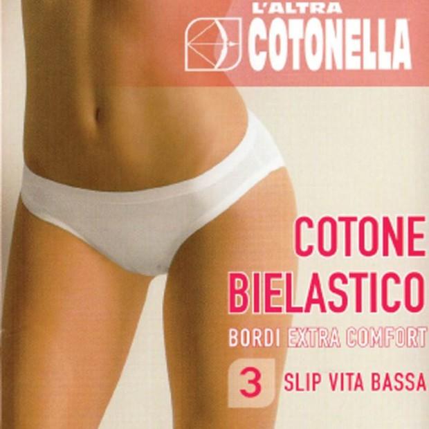 COTONELLA 3 SLIP DONNA COTONE BIELASTICO 3362