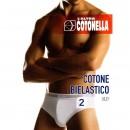 COTONELLA 2 SLIP UOMO COTONE BIELASTICO 2383
