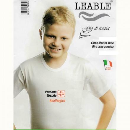 LEABLE 6 T-SHIRT RAGAZZO COTONE MANICA CORTA 1440