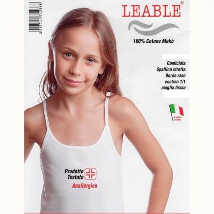 LEABLE 6 CANOTTIERA RAGAZZA COTONE SPALLA STRETTA 1446