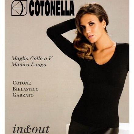 COTONELLA MAGLIA DONNA  COTONE GARZATO 3504