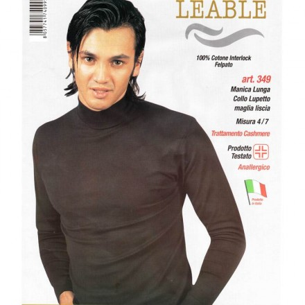 LEABLE LUPETTO UOMO INTERLOCK MANICA LUNGA 349