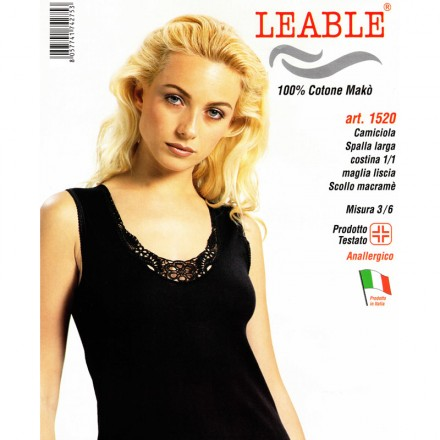 LEABLE 6 TOP DONNA COTONE SPALLA LARGA 1520