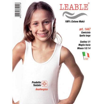 LEABLE 6 TOP RAGAZZA COTONE SPALLA LARGA 1447