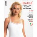 LEABLE 6 TOP DONNA COTONE SPALLINA STRETTA 1467