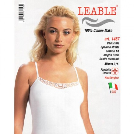 LEABLE 6 TOP DONNA COTONE SPALLINA STRETTA 1467