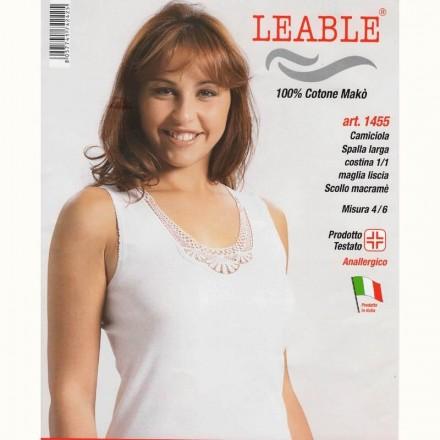 LEABLE 6 CANOTTA DONNA TAGLIE FORTI COTONE SPALLA LARGA 1455