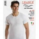 LEABLE 6 T-SHIRT UOMO TAGLIE FORTI COTONE GIROCOLLO 1418