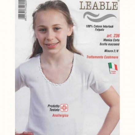 LEABLE 3 MAGLIA BIMBA COTONE INTERLOCK MANICA CORTA 236