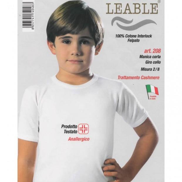 LEABLE 3 MAGLIA BIMBO COTONE INTERLOCK MANICA CORTA 208